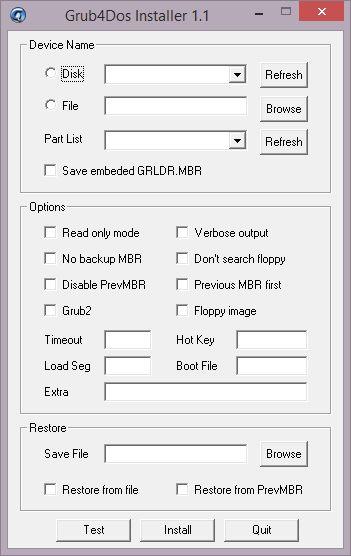 grub4dos installer 1.1